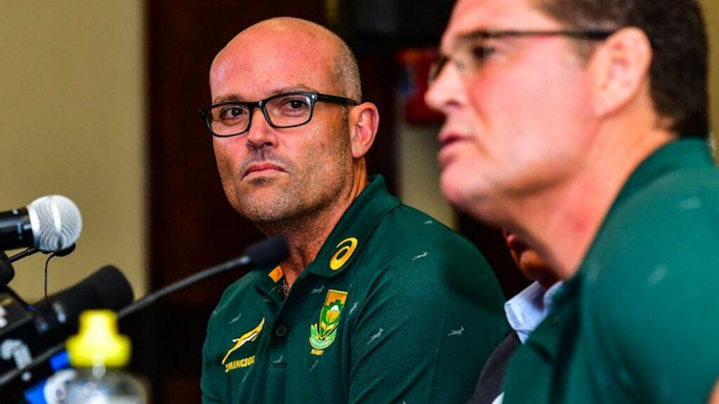 Springboks Rassie Erasmus and